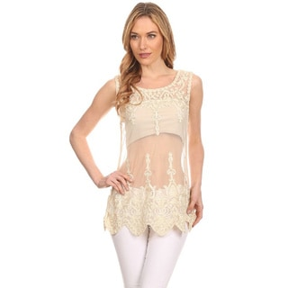 High Secret Women's Crochet Lace Top