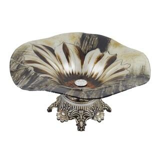 D'Lusso Designs Deanna Design 14-Inch Glass Centerpiece With Base