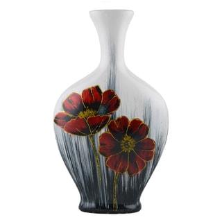 D'Lusso Designs Flora Design 17-Inch Ceramic Vase