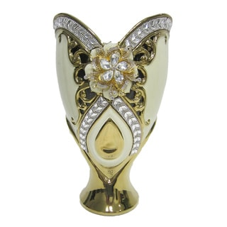 D'Lusso Designs Gold Bling 13-Inch Vase