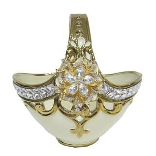 D'Lusso Designs Gold Bling Design Basket