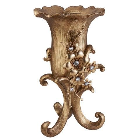 "16""H Athena Bronze Decor Vase"