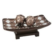 "6""H Arabesque Mirror Bowl W/ Spheres"