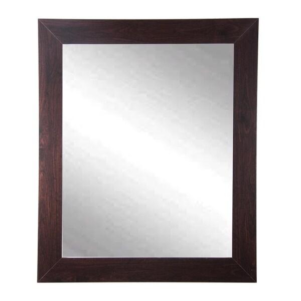 BrandtWorks Walnut Wall Mirror 27 X 32 - Brown