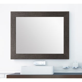BrandtWorks Scratched Black Wall Mirror 32 X 38