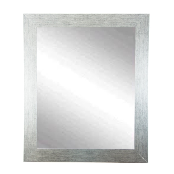 BrandtWorks Stainless Grain Wall Mirror 27 X 32 - Silver