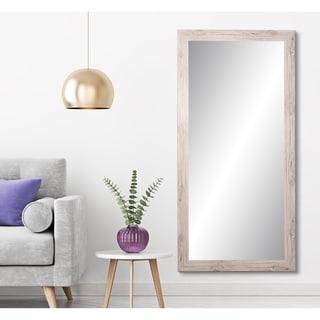 BrandtWorks Farmhouse Cream 32 x 71-inch Floor Mirror - Brown/Ivory - 32 x 71