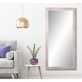 BrandtWorks Farmhouse Cream 32 x 71-inch Floor Mirror - Brown/Ivory - 32 x 71