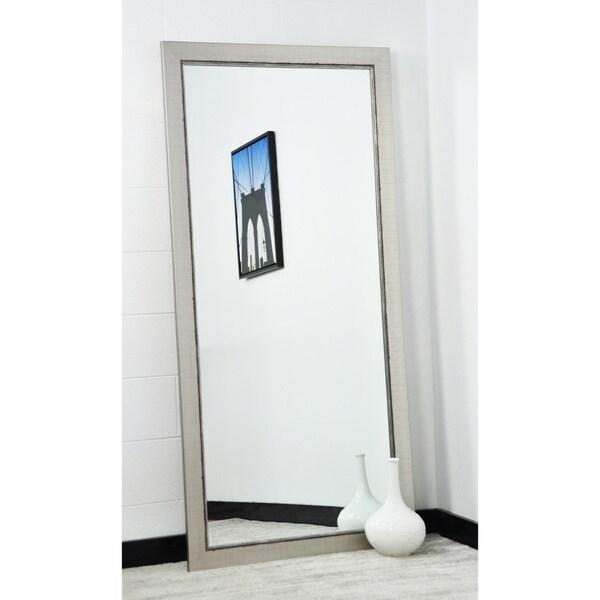BrandtWorks Silver Lined 31.5 x 70.5 - Inch Floor Mirror - Nickel