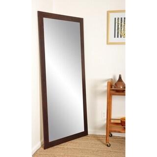 BrandtWorks Dark Walnut 32 X 71 Inch Floor Mirror   Brown