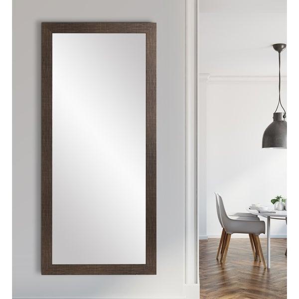 BrandtWorks Modern Scratched Black Floor 32 x 71 - Inch