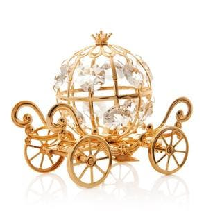 24k Goldplated Mini Cinderella Inspired Pumpkin Coach Made with Genuine Matashi Crystals|https://ak1.ostkcdn.com/images/products/11542576/P18488366.jpg?impolicy=medium