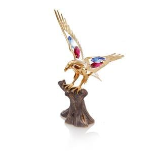 24k Goldplated Fourth of July Eagle Made with Genuine Matashi Crystals