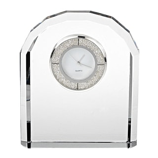 "Diamonds Crystal Clock H4.75"" x W3.75"""