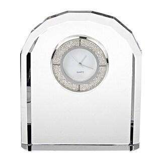 "Diamonds Crystal Clock H4.75"" x W3.75"""