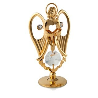 Matashi - 24k Goldplated Praying Angel Ornament Made with Genuine Matashi Crystals