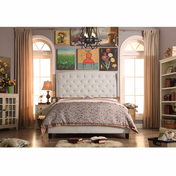 Moser Bay Full Size Tufted Wingback Upholstered Bed Set. Opens flyout.