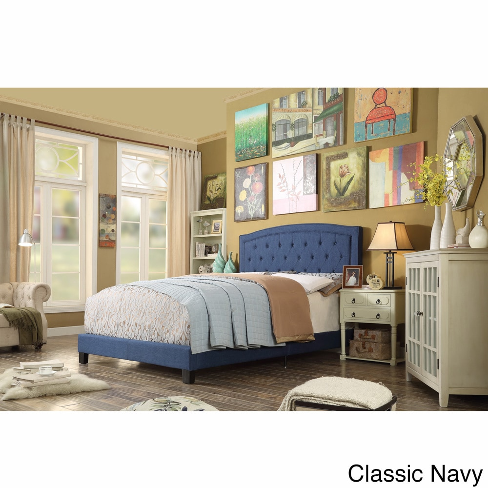 Silhouette Moser Bay Twin Size Tufted Upholstered Bed Set...