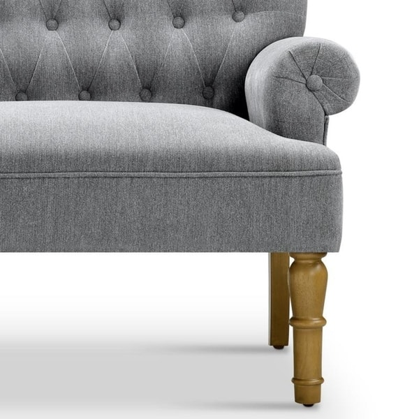 Fantastic Shop Upholstered Settee Loveseat With Tufting Back On Sale Machost Co Dining Chair Design Ideas Machostcouk