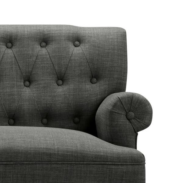 Astounding Shop Upholstered Settee Loveseat With Tufting Back On Sale Machost Co Dining Chair Design Ideas Machostcouk