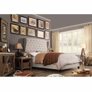 pink bedroom sets. Moser Bay Queen Size Diamond Wingback Upholstered Bed Set  Option Pink Bedroom Furniture For Less Overstock com