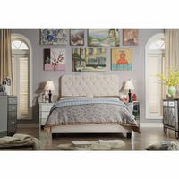 Moser Bay Queen Size Tufted Upholstered Bed