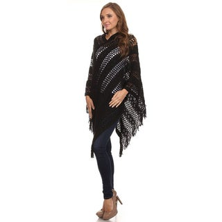 JED Women's Crochet Knit Tunic Poncho