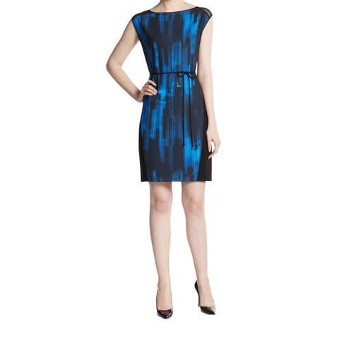 Elie Tahari Logan Women's Blue Printed Dress