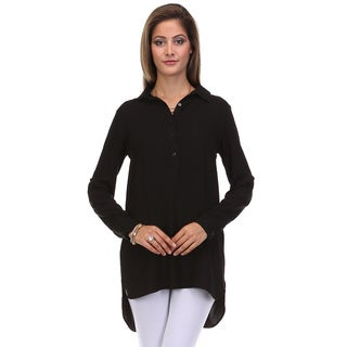 JED Women's Long Sleeve Relax Fit Tunic Shirt