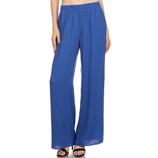 JED Women's Elastic High Waist Wide Leg Palazzo Pants