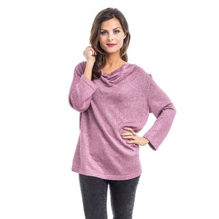 JED Women's Loose Drapey Neck Sweater