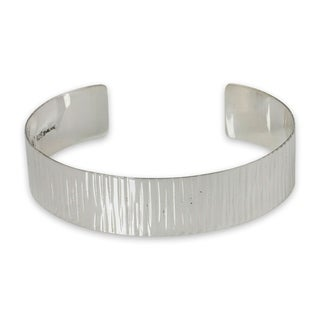Handcrafted Sterling Silver 'Rain' Bracelet (Thailand)