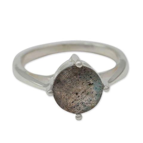 Handmade Sterling Silver 'India Enthusiasm' Labradorite Ring (India)