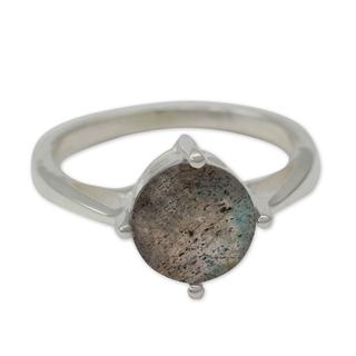 Handmade Sterling Silver 'India Enthusiasm' Labradorite Ring (India)