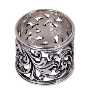 Handcrafted Sterling Silver 'Tropical Rain Forest' Ring (Indonesia)