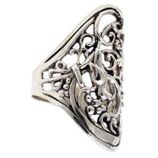 Handmade Sterling Silver 'Nightingale' Ring (Indonesia)