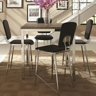 Silvertorre Chrome Modern Deign 5-piece Counter Height Dining Set