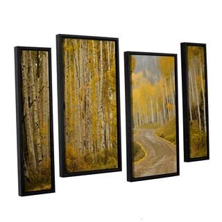 Amber Berninger's 'Telluride, CO, 4 Piece Floater Framed Canvas Staggered Set
