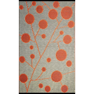 Great B.b.begonia Cotton Ball Reversible Design Brown And Orange Outdoor Area Rug    5u0027 X