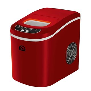iGloo ICE102-Red Compact Ice Maker, Red (Refurbished)