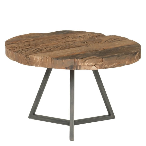 Lennox industrial small round coffee table free shipping for Small industrial coffee table
