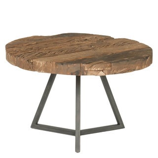 Lennox Industrial Small Round Coffee Table