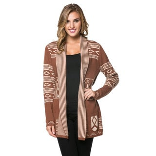 High Secret Women's Tribal Belted Cardigan