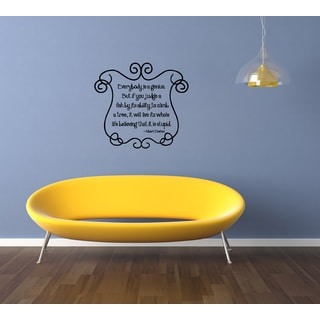 Everybody is a Genius quote Wall Art Sticker Decal