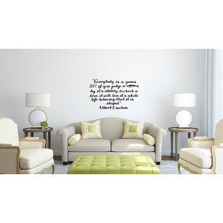 Expression Everybody is a Genius Wall Art Sticker Decal