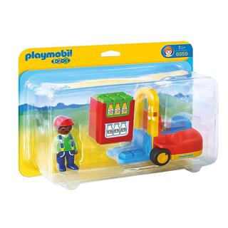 Playmobil 1.2.3. Forklift Set Building Kit