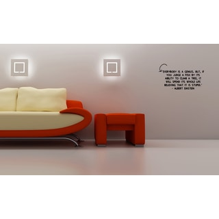 Phrase Everybody is a Genius Wall Art Sticker Decal