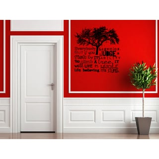 Tree Everybody is a Genius Wall Art Sticker Decal