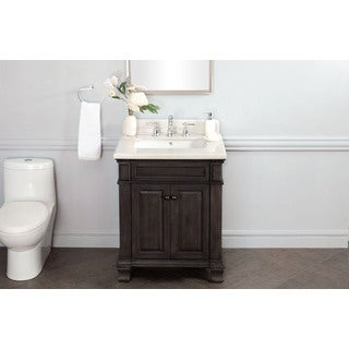 28 Inch Single Sink Vanity with Backsplash