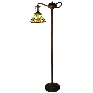 Genie 1-light Multi-color 60-inch Tiffany-style with Crystals Floor Lamp